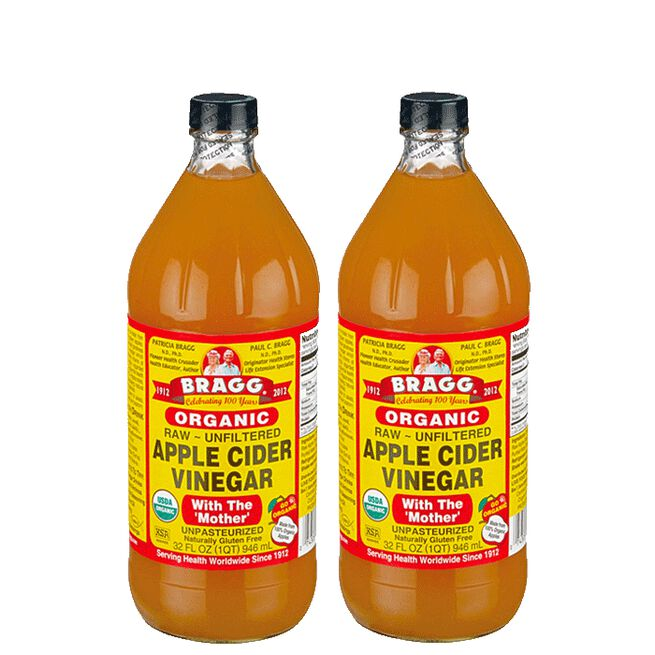 2 x Bragg Apple Cider Vinegar