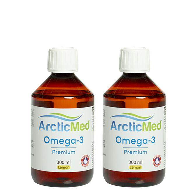 2 x Omega-3 Premium Lemon, 300 ml