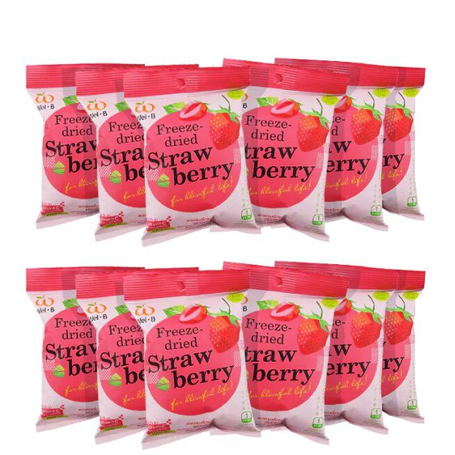 12 x Freezedried Strawberry, 15 g