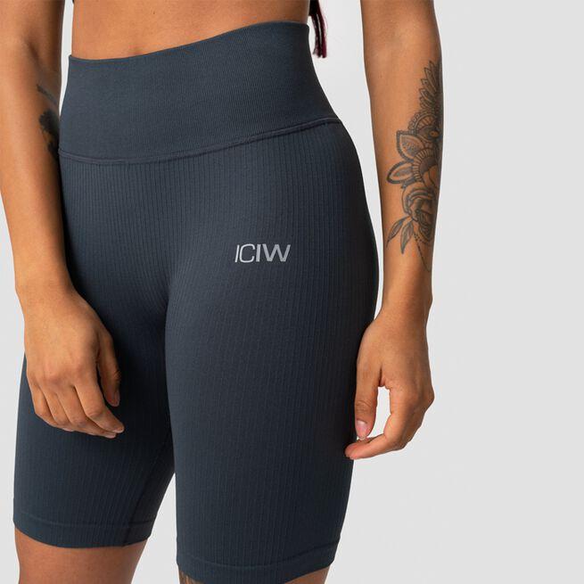 ICANIWILL Ribbed Define Seamless Biker Shorts, Smokey BlueICANIWILL Ribbed Define Seamless Biker Shorts, Smokey Blue