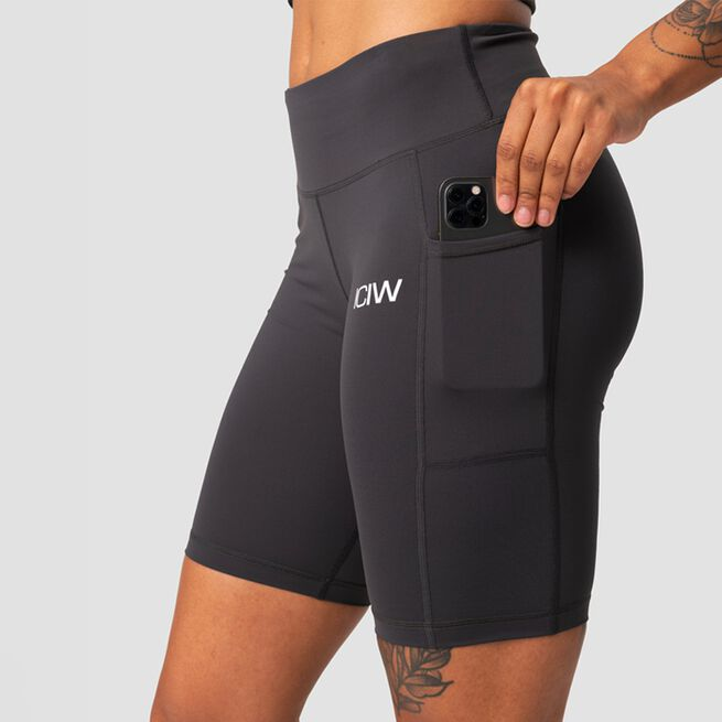 ICANIWILL Classic Pocket Biker Shorts, Anthracite