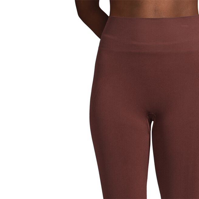 Essential Seamless Tights, Mahogany Red, S