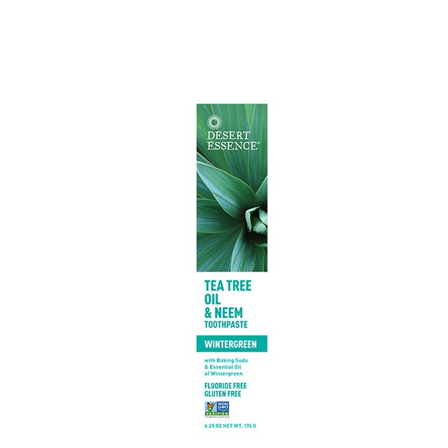 Natural Tea Tree Oil & Neem Toothpaste, 176 g