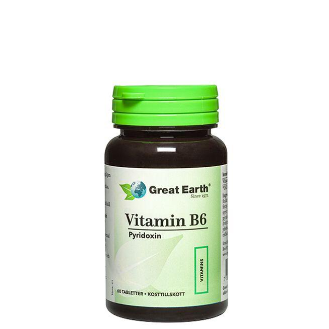 Vitamin B6, 60 tabletter