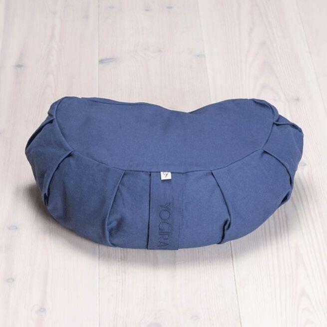 Meditation Cushion Crescent, Blueberry Blue Yogiraj