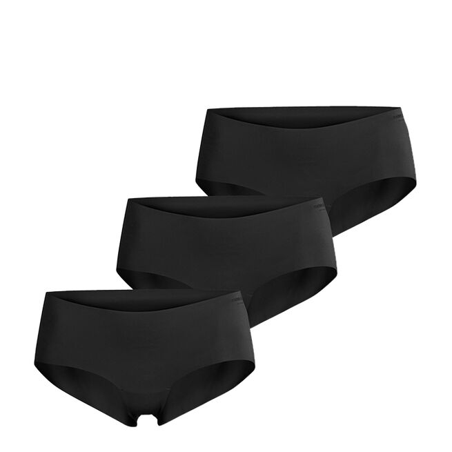3-Pack Hattie Solid Hipster, Black Beauty
