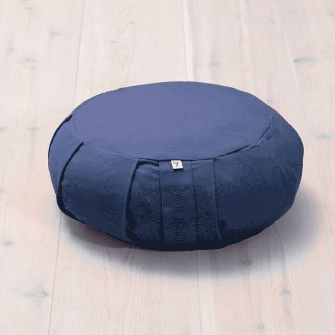 Meditation Cushion Round, Blueberry Blue Yogiraj