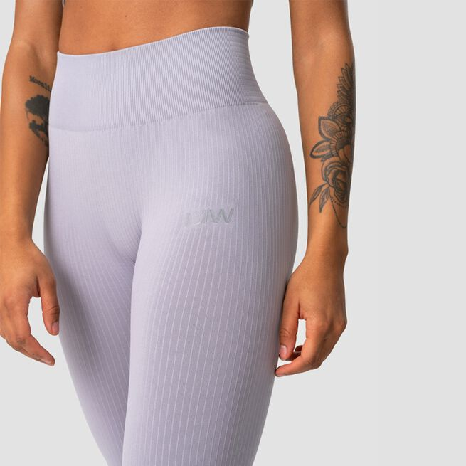 ICANIWILL Ribbed Define Seamless Tights, Cloudy Violet