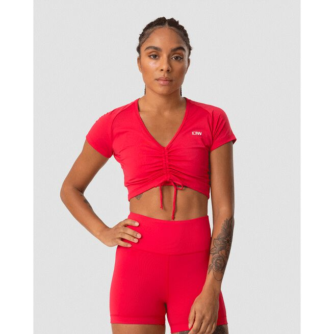 Scrunch T-shirt, Raspberry Red, L
