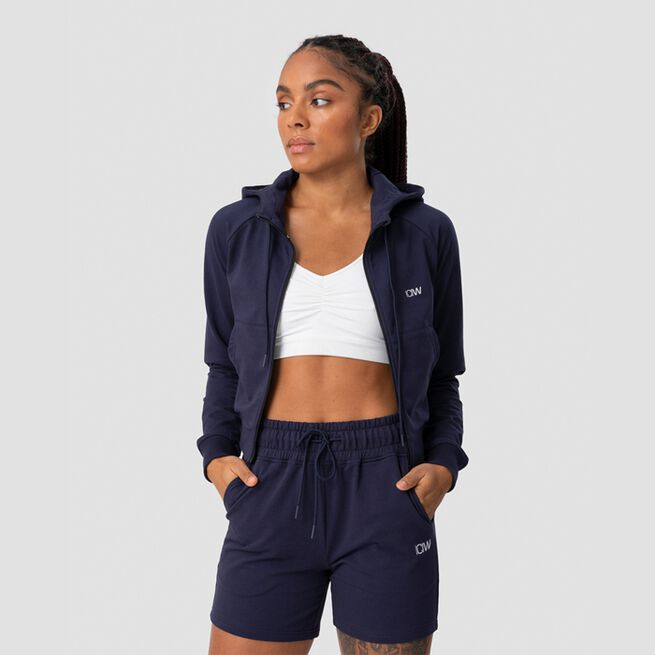 ICANIWILL Activity Cropped Hoodie, Navy