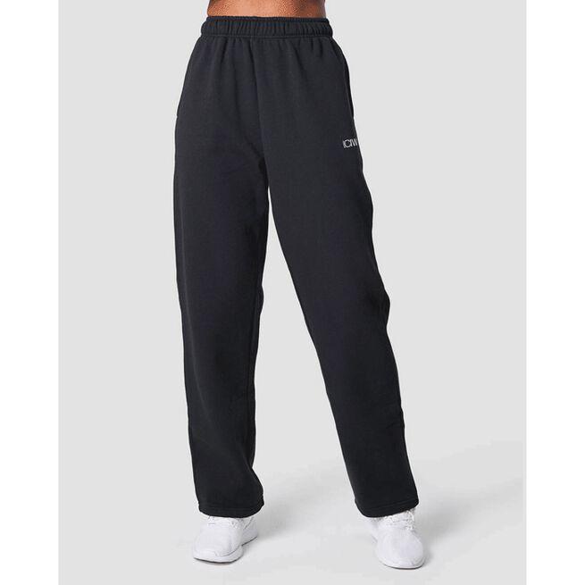 Essential Straight Sweatpant, Black, M