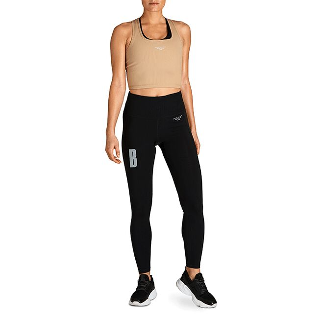 Björn Borg Night W Rib Crop Tank Cornstalk