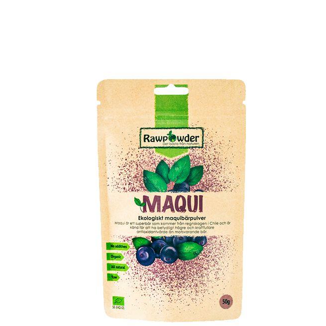 Maqui, Ekologiskt Maquibärpulver, 50 g