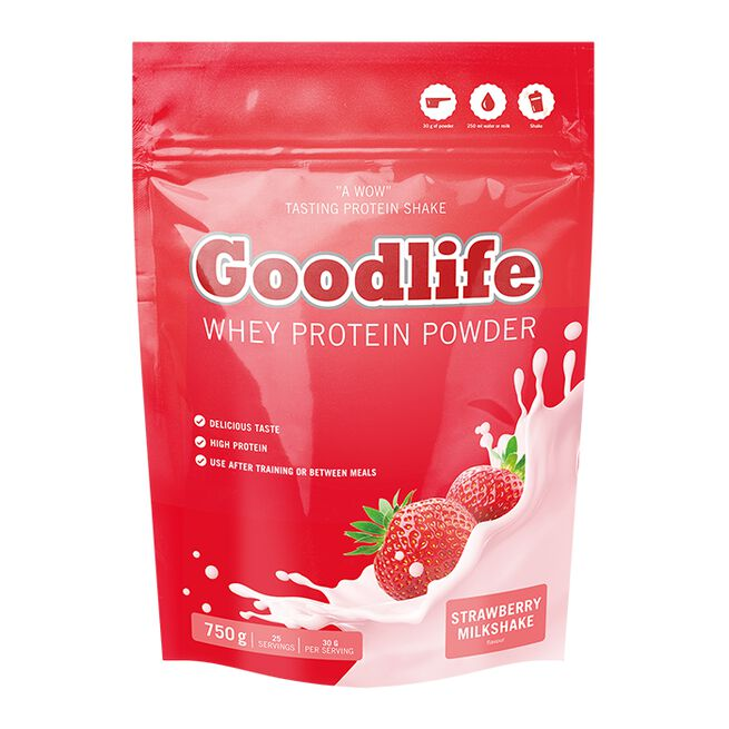 Goodlife Protein Powder, 750g, Strawberry Milkshake