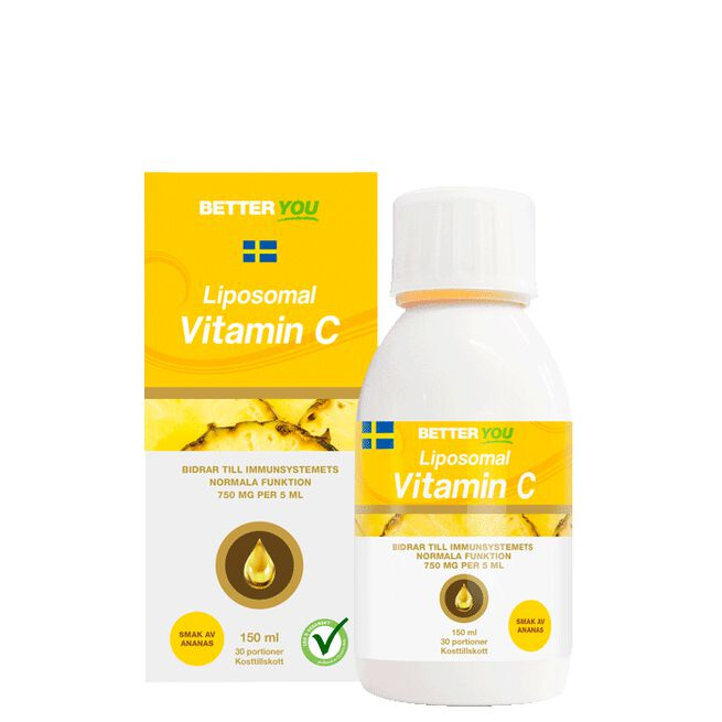 Liposomal Vitamin C Ananas, 150 ml Better You