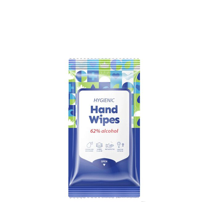 Hygienic Hand Wipes 62% Alcohol, 20 st