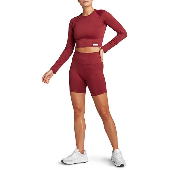 STHLM Seamless Rib Shorts, Biking Red, M/L