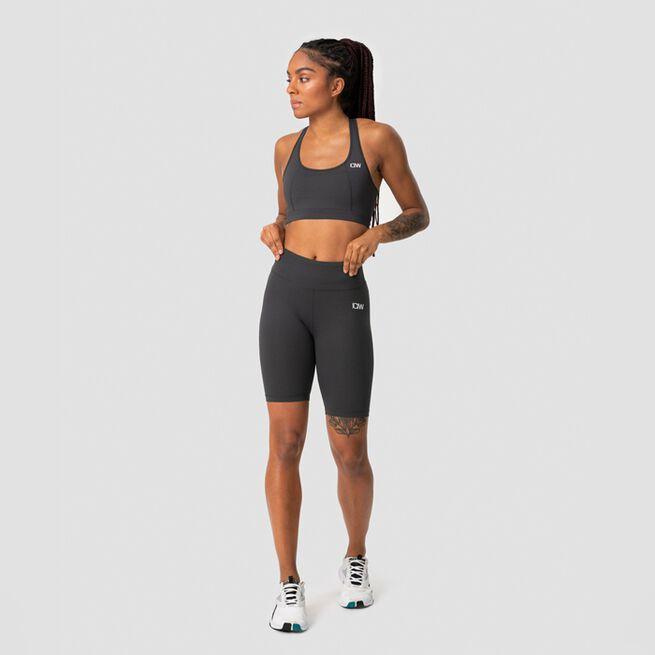 ICANIWILL Classic V-Shape Biker Shorts, Anthracite