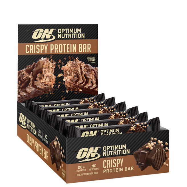 10 x Optimum Protein Crisp Bar, 65 g, Chocolate Brownie