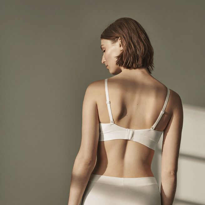 Pierre Robert Cotton Triangle Bra Jenny Skavlan, Natural