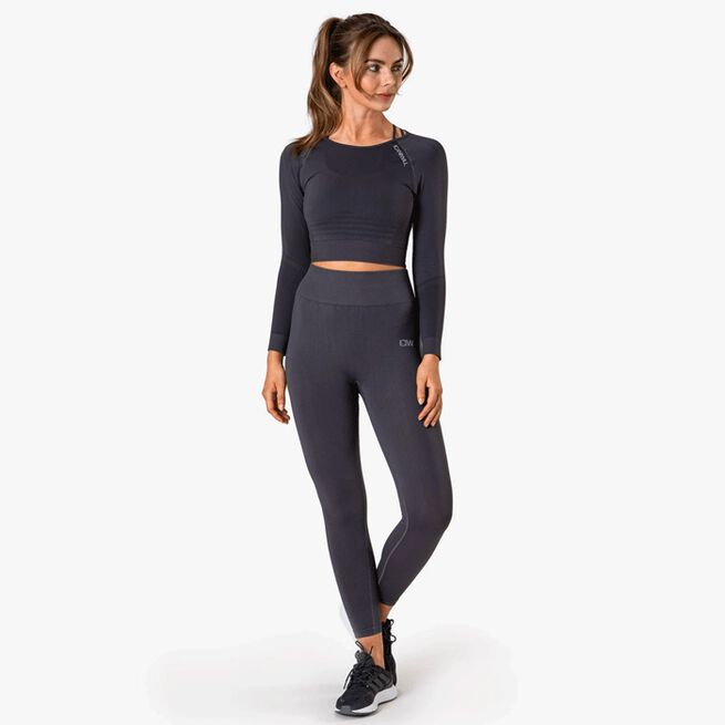 ICIW Define Seamless LS Crop Top Graphite