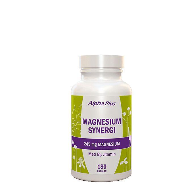 Magnesium Synergi, 180 kapslar Alpha Plus