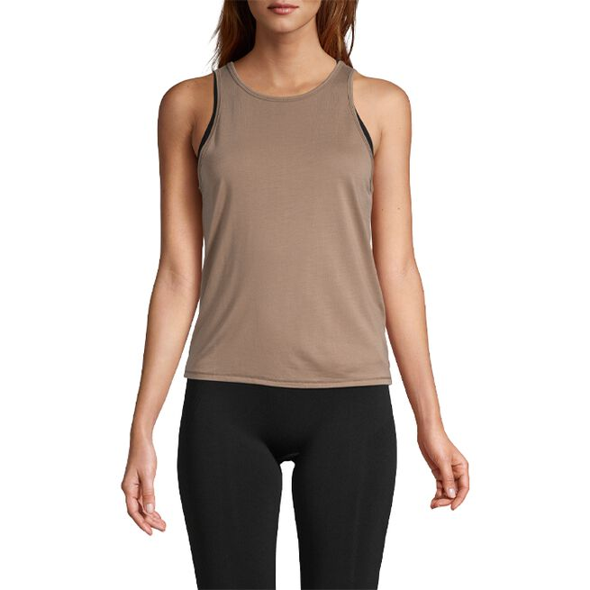 Tie Back Tank, Taupe Grey, 34