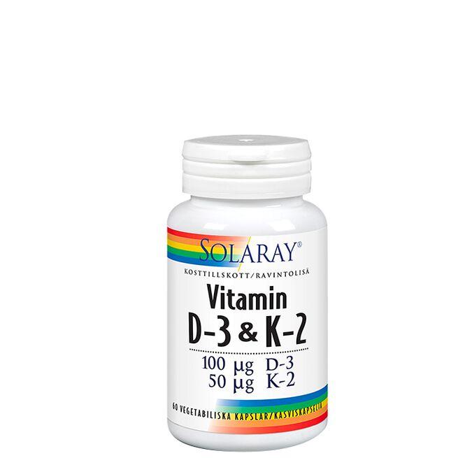 Vitamin D3 & K2 100 mcg Solaray
