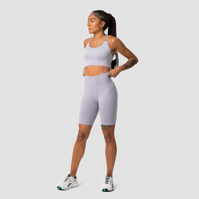 ICANIWILL Ribbed Define Seamless Biker Shorts, Cloudy Violet
