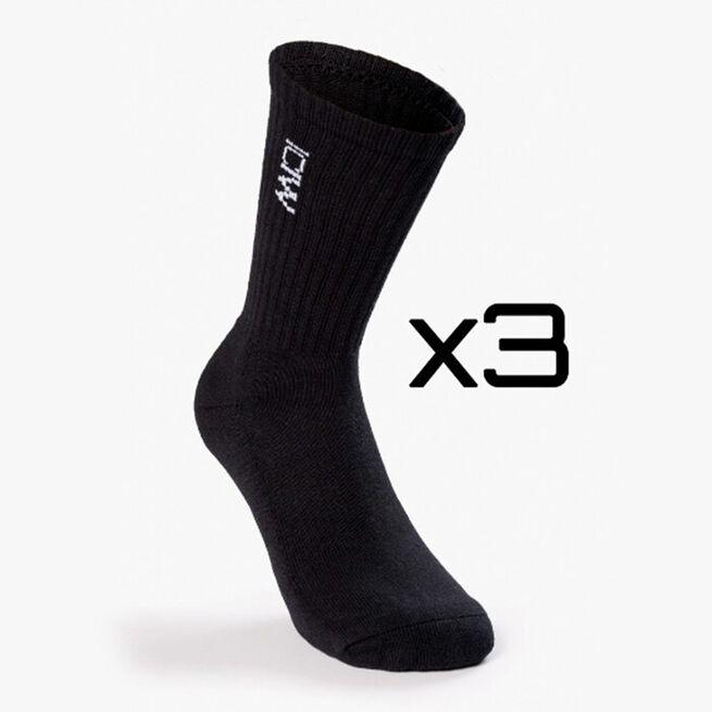 Training Unisex Socks 3-pack, Black, 39-41