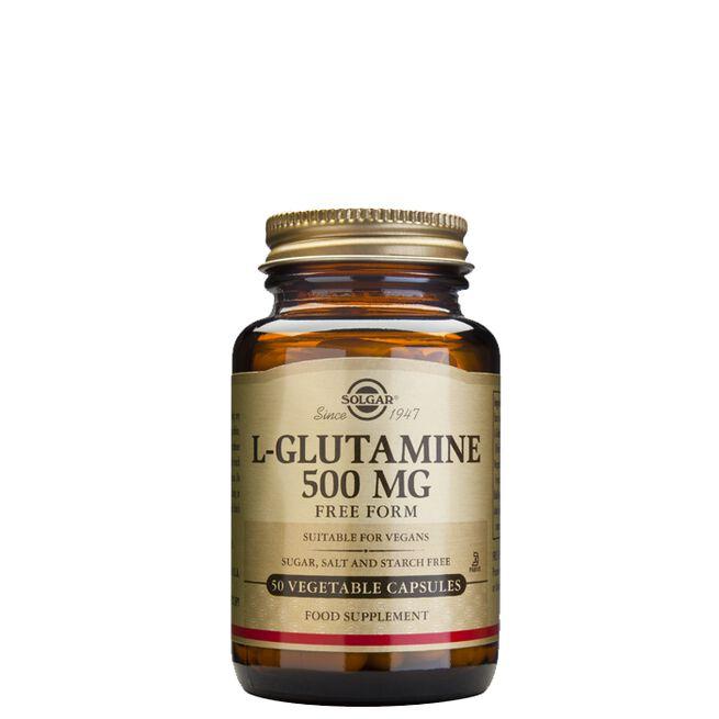 L-glutamin 500 mg, 50 kapslar
