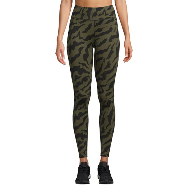 Iconic Printed 7/8 Tights, Escape Green, 34