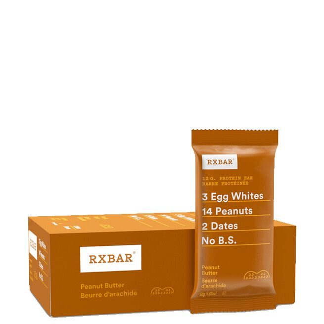 12 x RXBAR 52g peanut butter