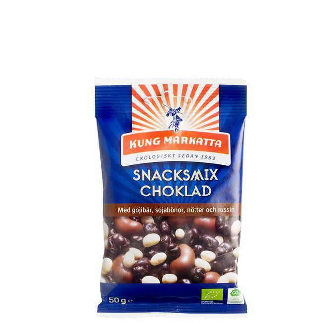 Snacksmix Choklad Eko, 50 g