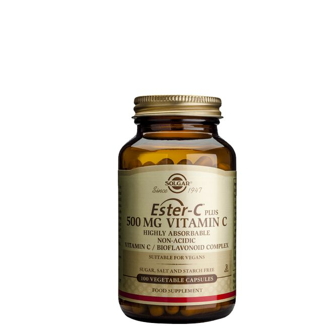 Ester C Plus 500 mg, 100 kapslar