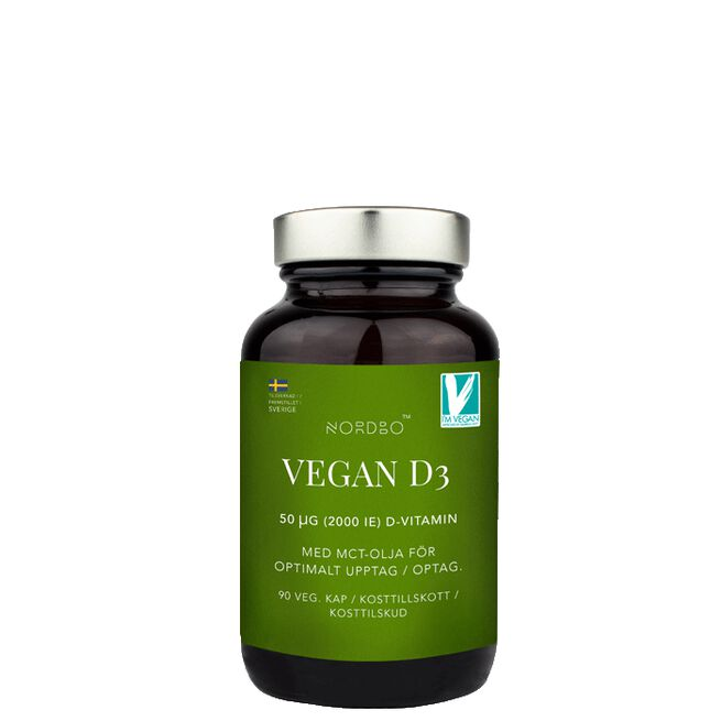Nordbo Vegan D3, 90 kapslar