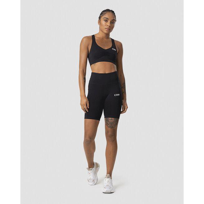Scrunch Pocket Biker Shorts, Black, L