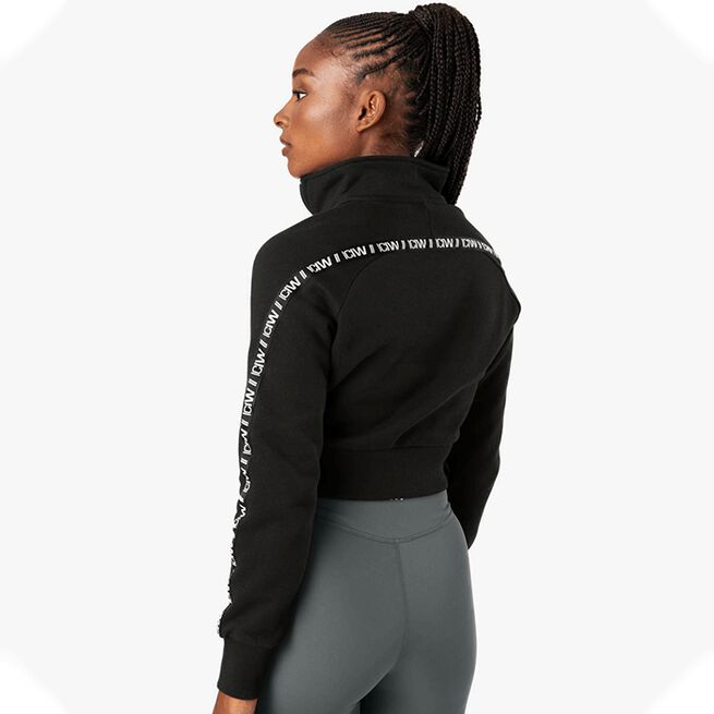ICANIWILL Essential Cropped Logo Sweater, Black