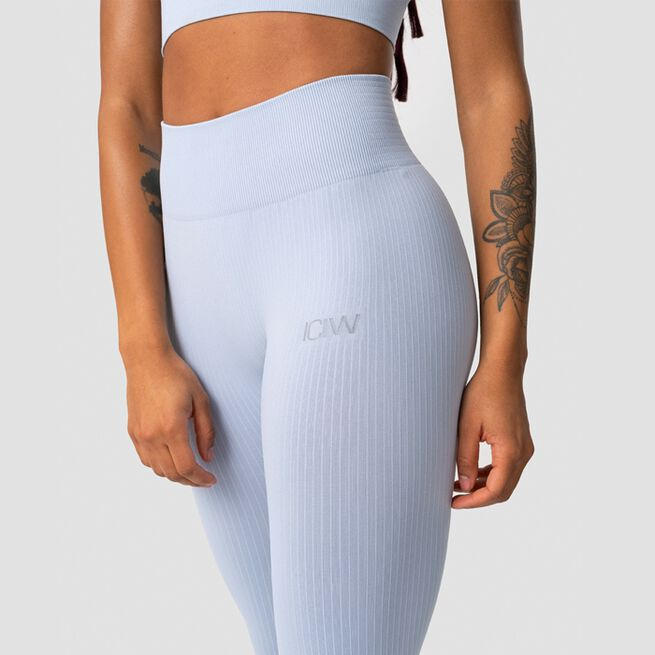 ICANIWILL Ribbed Define Seamless Tights, Cloudy Blue