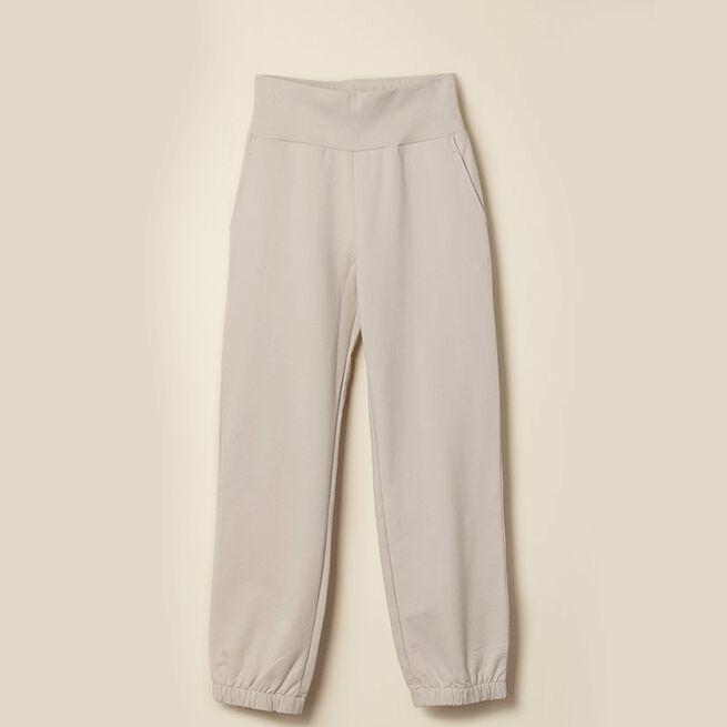 GOTS Sweatpants, White Sand
