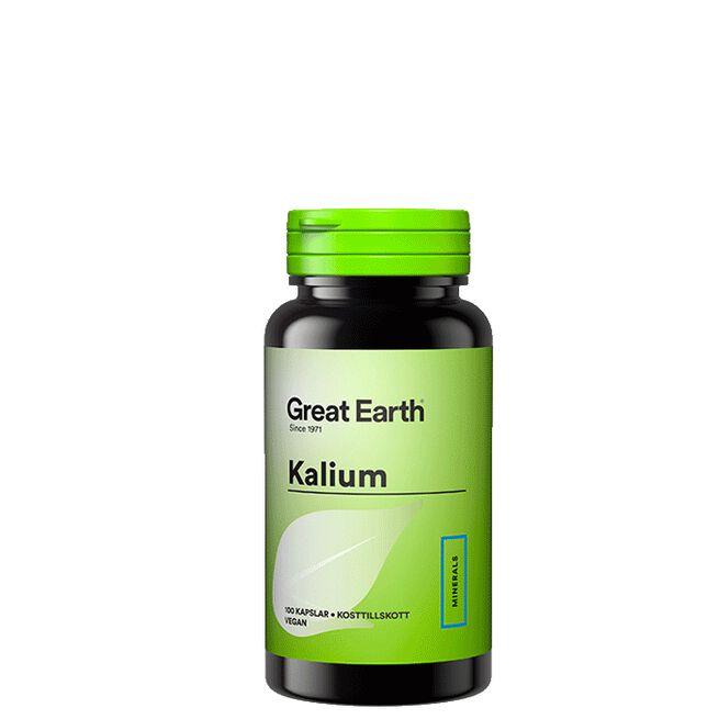 Kalium, 100 kapslar Great Earth