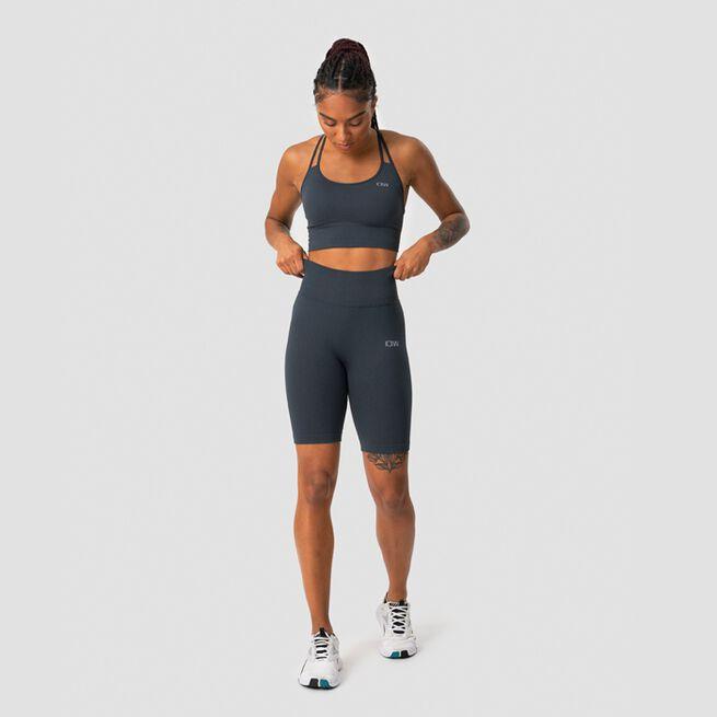 ICANIWILL Ribbed Define Seamless Biker Shorts, Smokey Blue