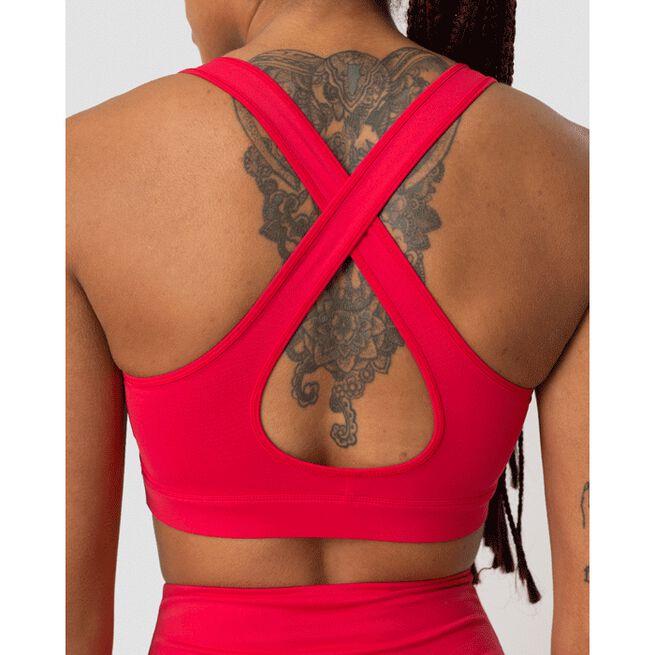 Scrunch Sports Bra, Raspberry Red, L