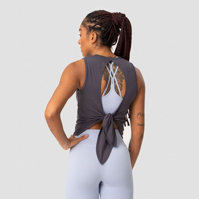 ICANIWILL Empowering Open Back Tank, Anthracite