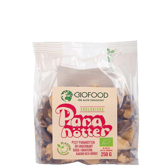 Paranötter Ekologiska, 250 g Biofood