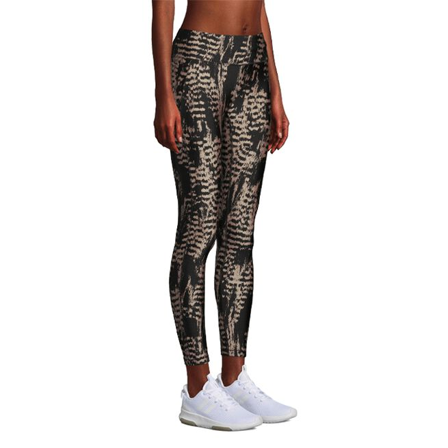 Casall Iconic Printed 7/8 Tights Survive Grey Metallic