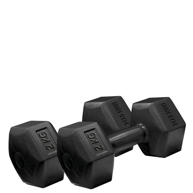 Iron Gym 2kg x 2 Fixed Hex Dumbbell, Pair