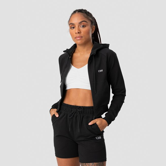 ICANIWILL Activity Cropped Hoodie, Black