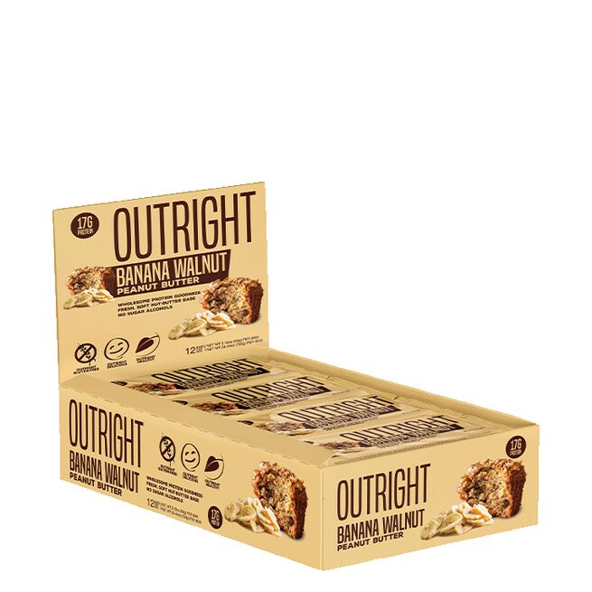 12 x Outright Protein Bar, 60 g, Walnut Banana Peanut Butter
