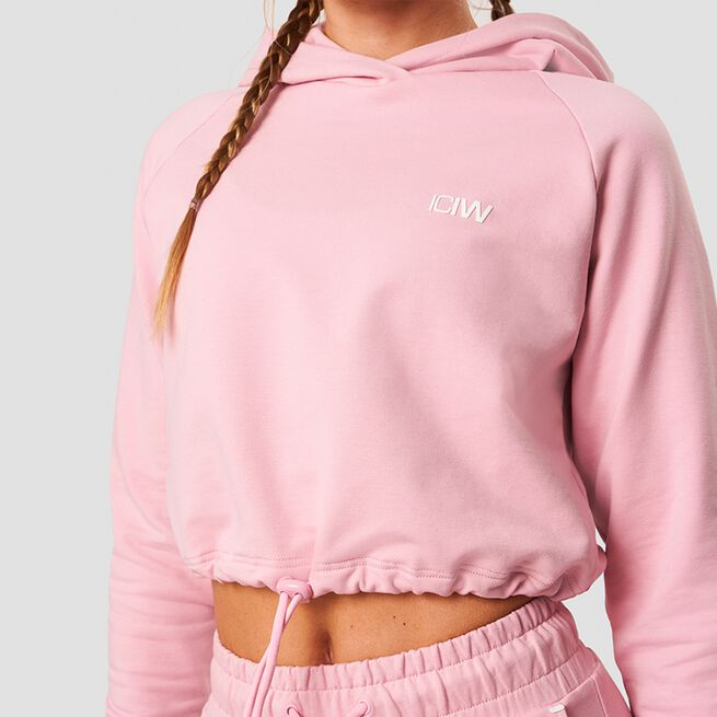 ICANIWILL Adjustable Cropped Hoodie Pink